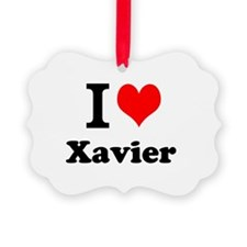 I Love Xavier Ornament