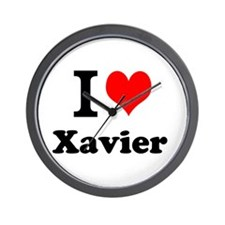 I Love Xavier Wall Clock
