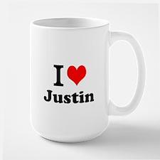 I Love Justin Mugs