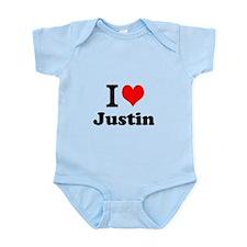 I Love Justin Body Suit