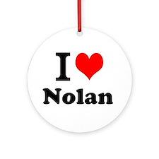 I Love Nolan Ornament (Round)