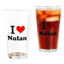 I Love Nolan Drinking Glass