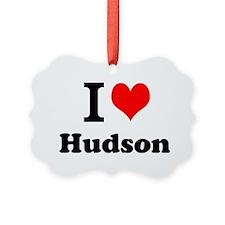 I Love Hudson Ornament