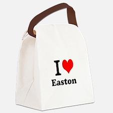 I Love I Love Easton Canvas Lunch Bag
