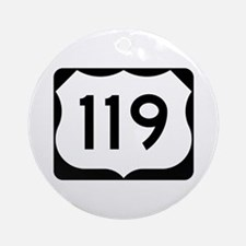 US Route 119 Ornament (Round)