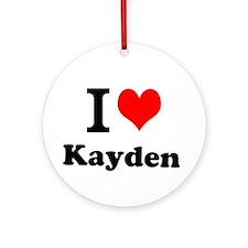 I Love Kayden Ornament (Round)