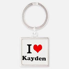 I Love Kayden Keychains