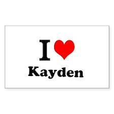 I Love Kayden Decal