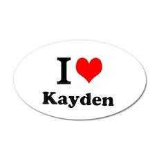 I Love Kayden Wall Decal