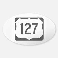 US Route 127 Sticker (Oval)