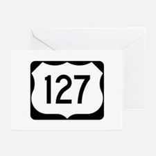 US Route 127 Greeting Cards (Pk of 10)