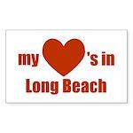 Long Beach Rectangle Sticker