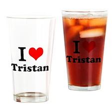 I Love Tristan Drinking Glass
