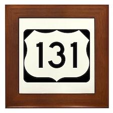 US Route 131 Framed Tile