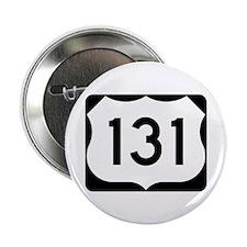 "US Route 131 2.25"" Button"