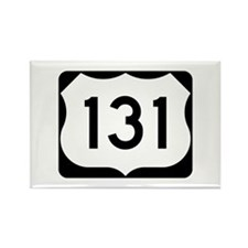 US Route 131 Rectangle Magnet