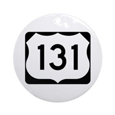 US Route 131 Ornament (Round)