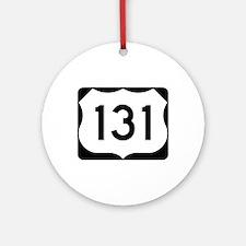 US Route 131 Ornament (Round)