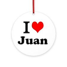 I Love Juan Ornament (Round)