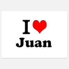 I Love Juan Invitations