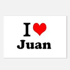 I Love Juan Postcards (Package of 8)