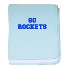 Rockets-Fre blue baby blanket