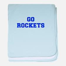 Rockets-Fre blue baby blanket