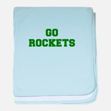 Rockets-Fre dgreen baby blanket