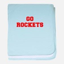 ROCKETS-Fre red baby blanket