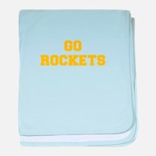 Rockets-Fre yellow gold baby blanket