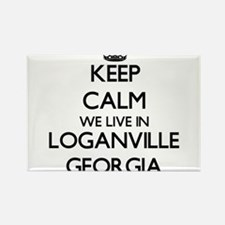 Keep calm we live in Loganville Georgia Magnets