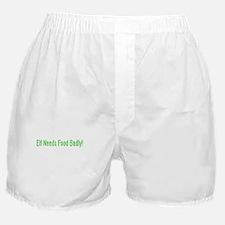 Elf Needs Food Boxer Shorts