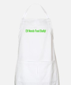 Elf Needs Food BBQ Apron