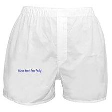 Wizard Needs Food Boxer Shorts