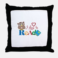 I LOVE TO READ Throw Pillow