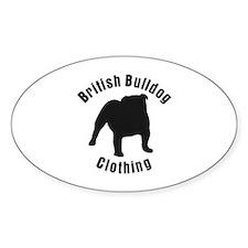 British Bulldog Clothing 2 Oval Decal