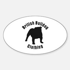 British Bulldog Clothing 2 Oval Decal