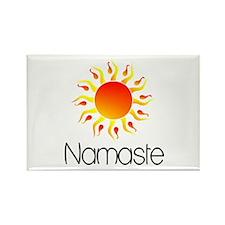 Namaste Sun 3 Rectangle Magnet (100 pack)