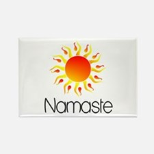 Namaste Sun 3 Rectangle Magnet