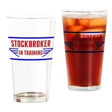 Stockbroker In Training Drinking Glass