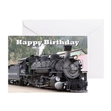 Happy Birthday Steam train engine lo Greeting Card