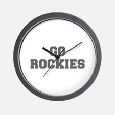 ROCKIES-Fre gray Wall Clock
