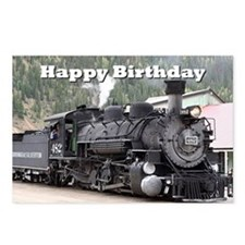 Happy Birthday Steam trai Postcards (Package of 8)