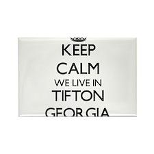 Keep calm we live in Tifton Georgia Magnets