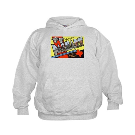Dalhart Texas Greetings (Front) Kids Hoodie