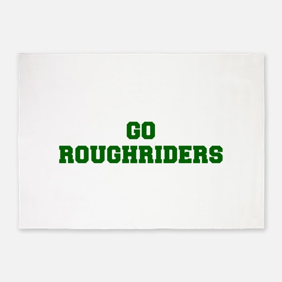 Roughriders-Fre dgreen 5'x7'Area Rug