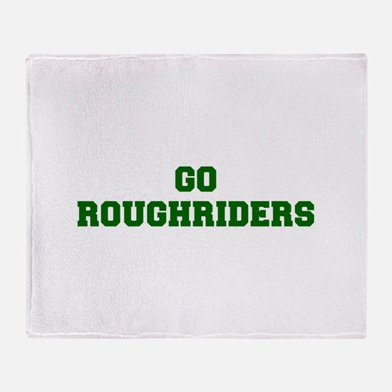 Roughriders-Fre dgreen Throw Blanket