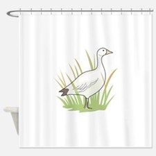SNOW GOOSE Shower Curtain