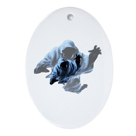 Ghost Canada - Christmas Ghost Oval Ornament