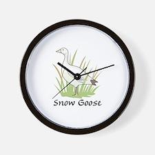 SNOW GOOSE Wall Clock